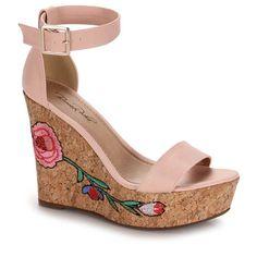 Sandália Anabela Feminina Bruna Rocha - Rosa Wedges, Shoes, Fashion, Men's Pants, Rock, Productivity, Stuff Stuff, Moda, Zapatos