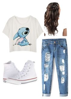 """""""Untitled #28"""" by talaylay on Polyvore featuring Converse, women's clothing, women, female, woman, misses and juniors"""