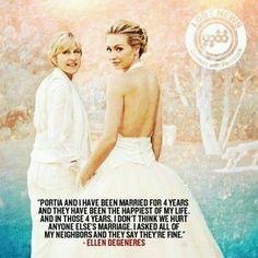 Ellen quote, I love this Ellen Quotes, True Quotes, Ellen And Portia, Lgbt News, Ellen Degeneres, Oppression, Gay Pride, Thought Provoking, Role Models