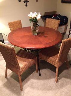 Hooker Furniture Summerglen Round Dining Table With Leaf In Antique - 44 inch round dining table with leaf