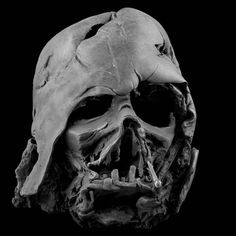 Darth Vader's damaged mask #starwars