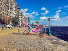 The seafront of Thessaloniki, the city's most enjoyable bike ride! Thessaloniki, The Locals, Fair Grounds, Bike, In This Moment, Travel, Instagram, Bicycle, Viajes