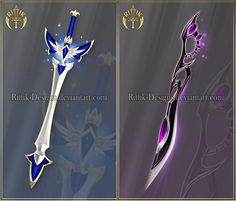 Swords adopts 25 (OPEN) Auction by Rittik-Designs Fantasy Sword, Fantasy Art, 4 Elements, Sword Drawing, Armas Ninja, Sword Design, Anime Weapons, Magical Jewelry, Weapon Concept Art