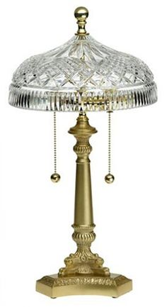 Waterford Crystal 18-Inch Beaumont Lamp - Waterford's attention to quality and clarity is evident in the ornate crystal shade of the seventeen and a half inch Beaumont lamp. - Floor Lamps - Home & Garden -