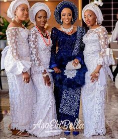 An is a wedding guest {bella} looking stunning in aso-ebi – the fabric/colors of the day, at a - AsoEbi Bella. African Bridesmaid Dresses, African Wedding Attire, African Maxi Dresses, Latest African Fashion Dresses, Nigerian Wedding Dresses Traditional, Traditional Wedding Attire, African Traditional Dresses, African Lace Styles, Nigerian Bride