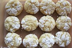 Gooey butter cookies - Nightwood, a restaurant down the street from my house, developed this recipe, and they are divine!