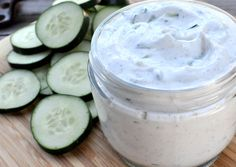 Homemade tzatziki...perfect with grilled chicken and pita