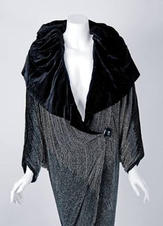 1924 Paul Poiret Haute-Couture Rare Ombre Beaded Flapper Cocoon Evening Coat | From a collection of rare vintage coats and outerwear at https://www.1stdibs.com/fashion/clothing/coats-outerwear/