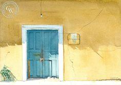 Steve Santmyer - The Door, Zihuatanejo, Mexico - California art - fine art print for sale, giclee watercolor print - Californiawatercolor.com