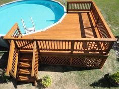 Diy Above Ground Pool Ideas On A Budget above ground pool deck ideas above grou . Diy Above Ground Pool Ideas On A Budget above ground pool deck ideas above grou # ideas above ground wooden decks Oberirdischer Pool, Above Ground Swimming Pools, Swimming Pools Backyard, In Ground Pools, Lap Pools, Indoor Pools, Above Ground Pool Landscaping, Backyard Pool Landscaping, Backyard Designs