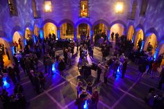 Stage Right Lighting Weddings & Special Events- When we put the Chrysler Museum of Art under water! #underwater #waterlights srlevents.com
