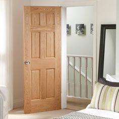 6 Panel Solid Core Unfinished Clear Pine Single Prehung Interior Door | Interior  Door, Pine And Prehung Interior Doors