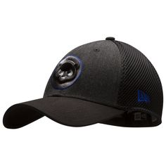 0ee522cc42a Chicago Cubs Graphite and Black 1984 Chubby Bear Logo Flex Fit Hat by New  Era