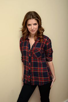Anna Kendrick | I saw that exact same plaid shirt and it infuriates me so much that I couldn't get it and be twins with her.