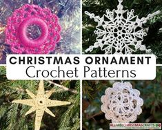Crochet ornaments are truly fabulous Christmas projects. There is an endless supply of free crochet patterns for Christmas ornaments, so you should never run out of ideas or inspiration. Crochet Ornament Patterns, Crochet Snowflake Pattern, Crochet Ornaments, Christmas Crochet Patterns, Crochet Snowflakes, Crochet Christmas Wreath, Crochet Christmas Decorations, Christmas Ornament Crafts, Christmas Crafts