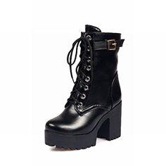 Carolbar Women's Fashion Street Lace up Buckle Punk Style Platform High Chunky Heel Martin Boots (6.5, Black) Carolbar http://www.amazon.com/dp/B0156BQI4Y/ref=cm_sw_r_pi_dp_.fGHwb0DBQDMY