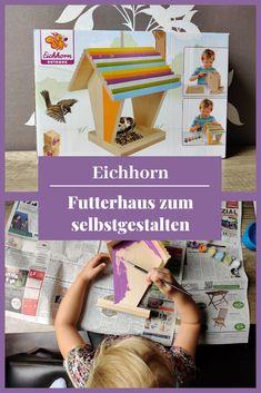 Eichhorn Futterhaus zum selbstgestalten, kreativ, basteln, DIY mit Kindern, Familie, Vogelhaus.