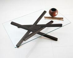 Téléchargez le catalogue et demandez les prix de Shangai | table basse By riflessi, table basse en bois et verre, Collection shangai