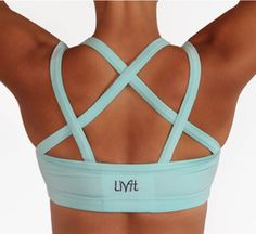 Cute workout clothes but I would totally get tangled up trying to get into that bra