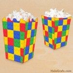 FREE Printable LEGO Building Block Popcorn Box- for popcorn (sight) words