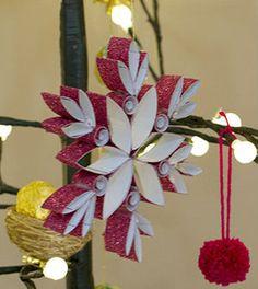 Enfeites de Natal em quilling passo a passo - Vale o Clique!