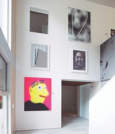 Marilyn Minteru0027s Entrance Hall, Featuring Work By Gerhard Richter And  Former Students Jeff Elrod And