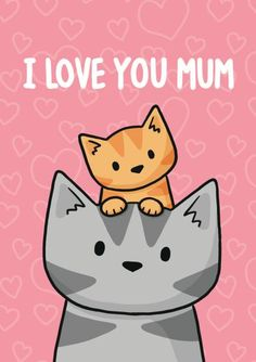 Happy Mother's Day ~ Another awesome greeting card created for by Doodlecats. Crazy Cat Lady, Crazy Cats, Silly Cats Pictures, Griffonnages Kawaii, Mothers Day Drawings, I Love You Mum, Cat Wallpaper, Cute Cartoon Wallpapers, Cat Crafts