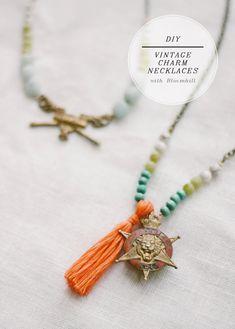 DIY Vintage Charm Necklaces