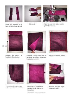 pochette suédine double face - Viny DIY, le blog de tutoriels et patrons couture et DIY.