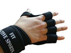 Love this ** New Ventilated Weight Lifting Gloves with Built-In Wrist Wraps, Full Palm Protection & Extra Grip. Great for Pull Ups, Cross Training, Crossfit, WOD's, Fitness & Weightlifting. Suits Men & Women