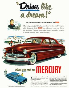 Official Website Original Print Ad 1950 Mercury Better Than Ever Thriftier With Gas Vintage Art Numerous In Variety Advertising-print