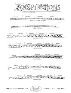 How to doodle patterns :)