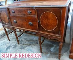 Buffet Turned Custom Bathroom Vanity By Simple Redesign - Featured On Furniture Flippin'