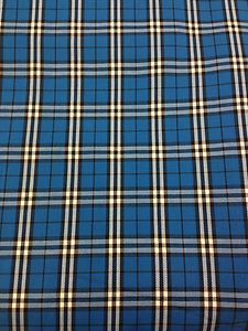 Gorgeous Funky Turquoise, Black & White Check Tartan Wool Fabric! 150cm Wide! £5.99 per metre #fabric #wool #turquoise #check #material #remnant