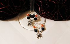 Personalised Halloween wine glass charms