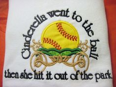 Cinderella Softball Shirt Cute Saying by CaneyBoutique on Etsy, $18.00