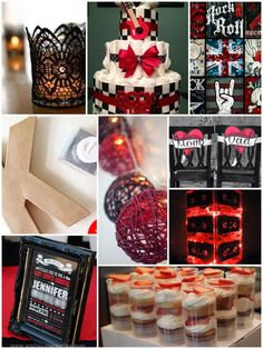 Board 21 - red and black rock and roll baby shower
