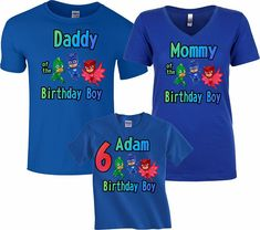 PJ Mask Birthday Boy Family Funny Cute Customized matching
