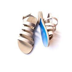 Kyma I SCHOINOUSA Leather Sandals  www.kymasandals.com #sandals #greekdesigners #handmadeingreece #wave #greeksandals #fashion #bluesole #summer #greece #schoinousa #sand #beach #leathersandals