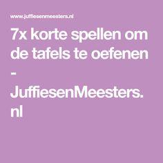 7x korte spellen om de tafels te oefenen - JuffiesenMeesters.nl Teacher Tools, Arithmetic, School Hacks, Math Classroom, Maths, Science For Kids, Kids Education, Fun Learning, Spelling