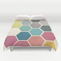 Duvet Covers featuring Honeycomb II by Cassia Beck