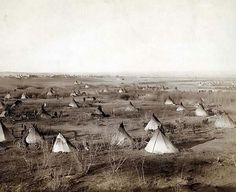 1891, a Lakota Sioux camp--probably on or near Pine Ridge Reservation.