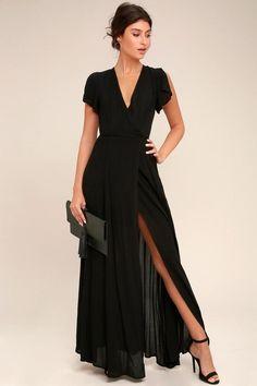 #Valentine's Day Sale! #EnvyWe #Lulus - #Lulus Heart of Marigold Black Wrap Maxi Dress - Lulus - EnvyWe.com