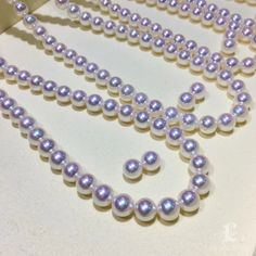 """Nouveau 6-7 Mm Blanc Akoya Cultured Pearl Necklace 50/"""" Long"""