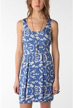 low back ikat dress