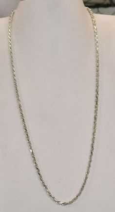 24 Inches Silver Tone Necklace Chains Wholesale Lot of 100 Plain Simple
