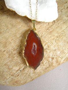 Agate Geode Necklace Druzy Drusy Quartz Center by julianneblumlo, $68.00