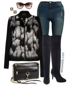 Plus Size Fashion - 4 Tips for Wearing Plus Size Faux Fur Vests - Alexa Webb - alexawebb.com #alexawebb
