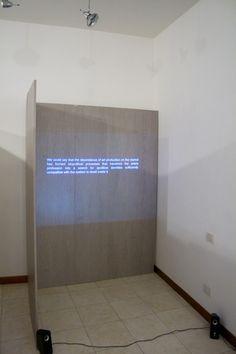allestimento della galleria, mostra David Goldenberg, The Scenarios of Post Autonomy.