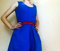 Cobalt Blue Cotton Shift Dress £34.00